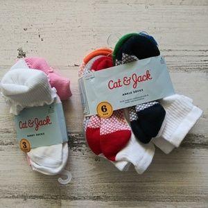 Cat & Jack socks bundle 9pr S(5 1/2-8 1/2)